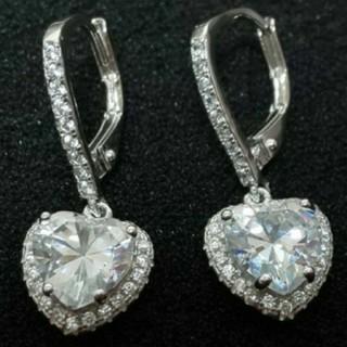 SWAROVSKI - f90 🔴ナイアガラ🔴 純銀製 ダイヤモンドキュービックジルコニア ピアス