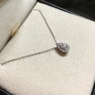 Vendome Aoyama - 最終値下げ ヴァンドーム アオヤマ プラチナ ダイヤモンド ネックレス ドロップ