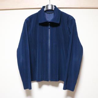 イッセイミヤケ(ISSEY MIYAKE)の美品 オムプリッセ イッセイミヤケ プリーツジャケット(ブルゾン)