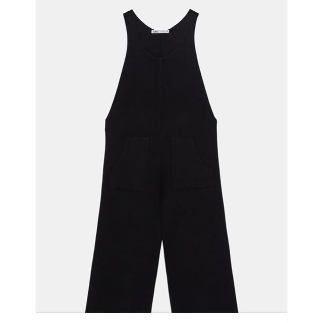 ZARA(ザラ)のZARA ポケット付きニットジャンプスーツ レディースのパンツ(オールインワン)の商品写真