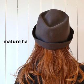 CA4LA - mature ha.(マチュアーハ)バックステッチ ウール フリーハット