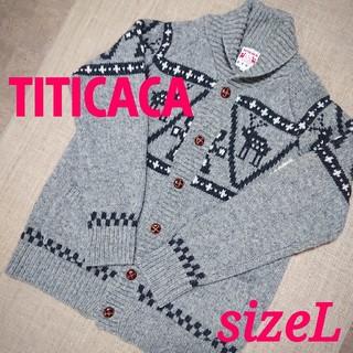 titicaca - チチカカ カウチンニット アウター Lサイズ ウール%