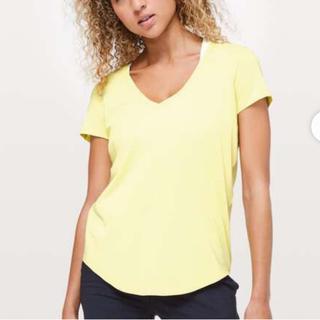 ルルレモン(lululemon)のルルレモン  lululemon Tシャツ レモン イエロー US6(Tシャツ(半袖/袖なし))