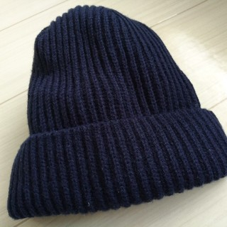 GU - ★GUネイビー・ニット帽★ほぼ未使用美品