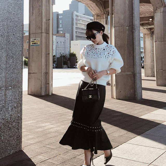 eimy istoire(エイミーイストワール)のeimyistoire❤️レースアップマーメイドスカート M ブラック レディースのスカート(ロングスカート)の商品写真