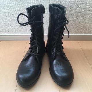 ムーンスター 23黒 エンジニアブーツ バイクブーツ軍隊ブーツコスプレライダース(ブーツ)