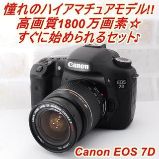 Canon - ★ 極上美品 WiFi転送OK! キヤノン EOS 7D レンズキット ★