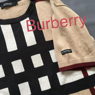 BURBERRY BLACK LABEL - レアデザイン Burberry セーター