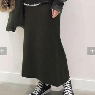 L'Appartement DEUXIEME CLASSE - AP STUDIO I line スカート◆新品未使用 タグ付き☆カーキ36
