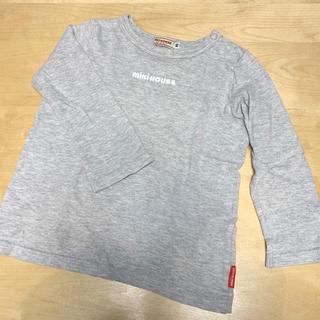 mikihouse - ミキハウス トップス  長袖 ロンT 90 ロンパース グレー ロゴ Tシャツ