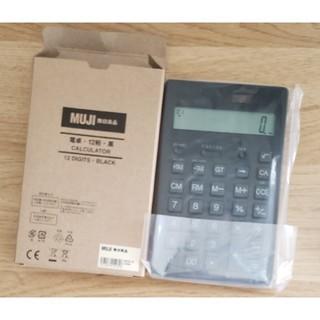 MUJI (無印良品) - 【本日のみの値段】無印良品   電卓・黒  12桁