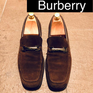 BURBERRY - Burberry スエード ローファー