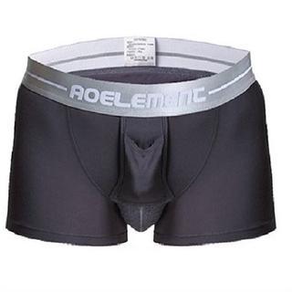 【グレー/XL】 ボクサーパンツ 2枚SET陰嚢分離型網ポケット付き(ボクサーパンツ)