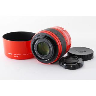 ニコン(Nikon)の希少オレンジ☆Nikon1 レンズ 30-110mm☆HB-N103フード付(レンズ(ズーム))