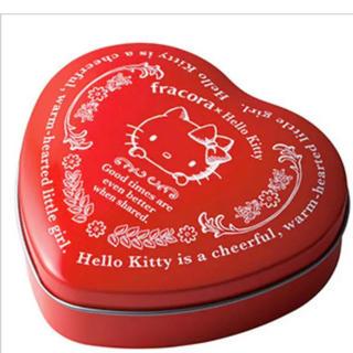 ハローキティ(ハローキティ)の★ ハローキティー チョコレート 缶入り 赤★サンリオクリスマス(菓子/デザート)