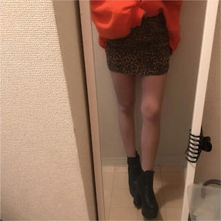 セシルマクビー(CECIL McBEE)のレオパード柄スカート(ミニスカート)