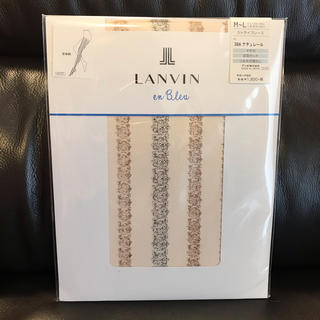 ランバンオンブルー(LANVIN en Bleu)のランバン 新品 LANVIN on Bleu  柄タイツ レース ストライプ (タイツ/ストッキング)