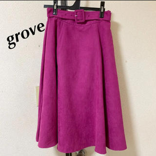 グローブ(grove)のgrove スカート ピンク レディース M グローブ ロングスカート(ロングスカート)