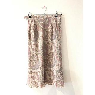 サンタモニカ(Santa Monica)のペイズリー柄 古着スカート(ひざ丈スカート)