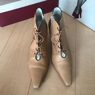グレースコンチネンタル(GRACE CONTINENTAL)のグレースコンチネンタル ブーツ ショート ロング ベージュ 23.5(ブーツ)