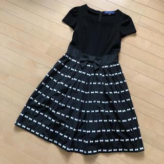 M'S GRACY - 【美品】エムズグレイシー リボン 刺繍 ワンピース サイズ38 ブラック