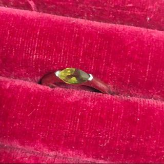 Monet。グリーンの石のリング。10号(リング(指輪))