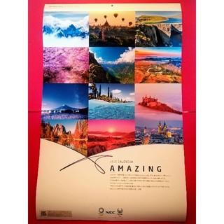 エヌイーシー(NEC)の1月終了★NEC 壁掛けカレンダー 2020 AMAZING 新品 美しい風景(カレンダー/スケジュール)