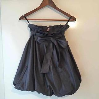 ユナイテッドアローズ(UNITED ARROWS)の大胆なリボンのスカート(ひざ丈スカート)