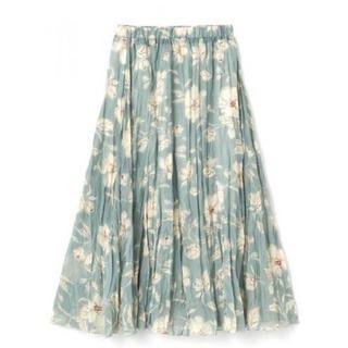 GRL - GRL 花柄ランダムプリーツスカート