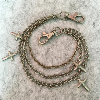 ロキエ(Lochie)のヴィンテージ 十字架ウォレットチェーン(ベルト)