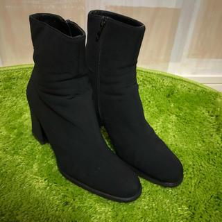 プラダ(PRADA)のプラダ レディース ショートブーツ  size36 ブラック(ブーツ)