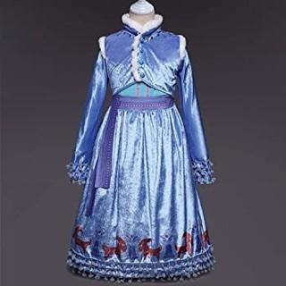 アナと雪の女王 家族の思い出 子供用アナのドレス 110(ワンピース)