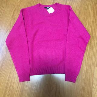 ユニクロ(UNIQLO)のユニクロ セーター Sサイズ ピンク(ニット/セーター)