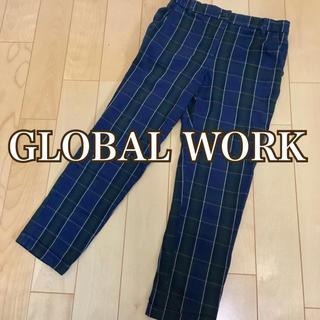 グローバルワーク(GLOBAL WORK)のGLOBAL WORK グローバルワーク チェック柄チノパン☆婦人服 ミセス(チノパン)