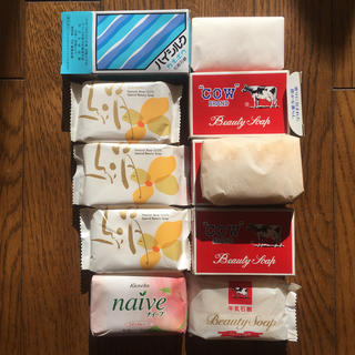 ギュウニュウセッケン(牛乳石鹸)の牛乳石鹸 赤箱 鐘紡石鹸11個(ボディソープ/石鹸)
