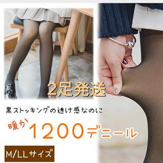 1200デニール タイツ 2足(タイツ/ストッキング)