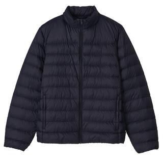 ムジルシリョウヒン(MUJI (無印良品))の無印良品 紳士ポケッタブルジャケット 黒 Sサイズ(ダウンジャケット)