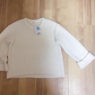 ハニーズ(HONEYS)の新品タグ付き ハニーズ ウールブレンド 裾口広め リブ編みセーター(ニット/セーター)