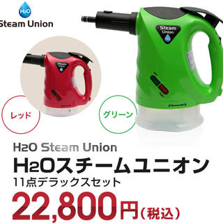 H2O スチームユニオン スチームクリーナー