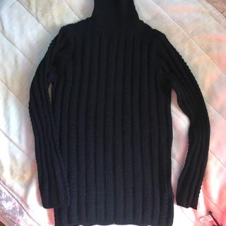 ディノス(dinos)のHi-Fashon SANPO のタートルネックセーター 黒 お洒落編み(ニット/セーター)