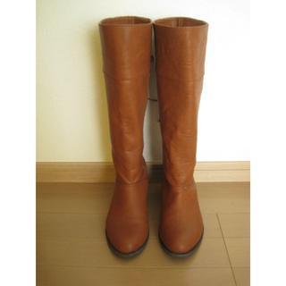 サマンサモスモス(SM2)のSM2 レースアップロングブーツ Mサイズ 茶色 美品(ブーツ)