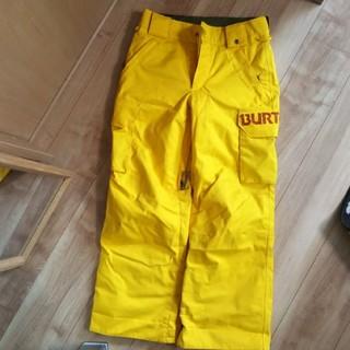 バートン(BURTON)のkittan1様専用BURTON ジュニア パンツ サイズS 7/8歳イエロー(ウエア)
