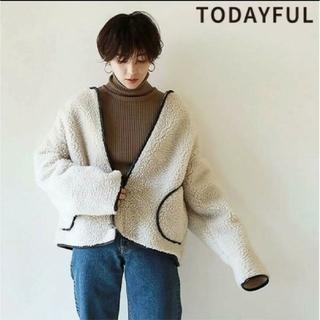 TODAYFUL - 新品★TODAYFUL パイピングボアブルゾン36