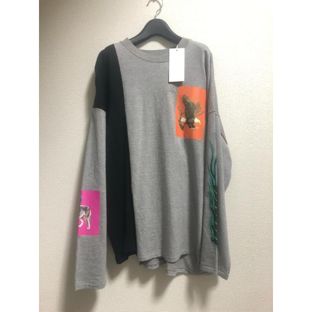 Jieda(ジエダ)のJieDa 19aw ASYMMETRY L/S(グレー&ブラック) メンズのトップス(Tシャツ/カットソー(七分/長袖))の商品写真