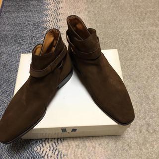 ヤンコ(YANKO)の未使用 ヤンコ(スペイン製)スェードジョッパーブーツ  茶色 25.5(ドレス/ビジネス)