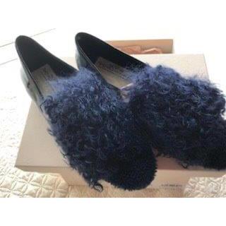ピッピ(Pippi)のPippichic ファー付きローヒール(ローファー/革靴)