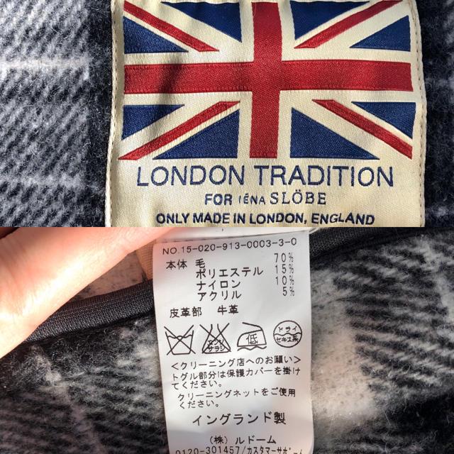 IENA SLOBE(イエナスローブ)のLONDON TRADlTION × SLOBE IENA ダッフルコート レディースのジャケット/アウター(ダッフルコート)の商品写真