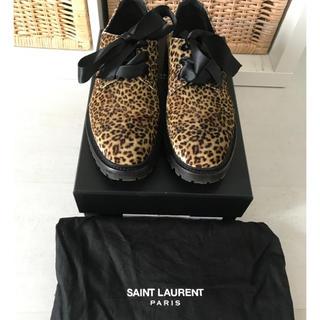 サンローラン(Saint Laurent)のSaint Laurent サンローラン レオパード シューズ サイズ37 (ローファー/革靴)
