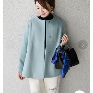 SHIPS - SHIPS for women ノーカラーショートコート◇ 定価38500円