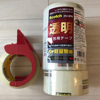 コストコ(コストコ)のhina様専用 スコッチ 3M 透明 梱包用テープ 48㎜×50m 専用カッター(ラッピング/包装)